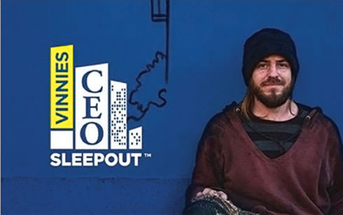 Vinnie's sleepout ad